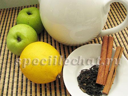 Чай с корицей и яблоками ингредиенты